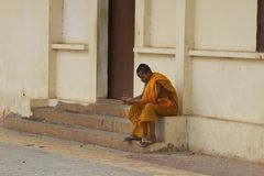 Monk in Cambodia Royalty Free Stock Photos