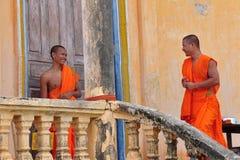 Monk in Cambodia. 2 Happy Monks in Cambodia Stock Image