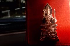 Monk in the car. In Thailand Royalty Free Stock Images