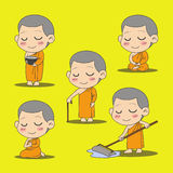 Monk cartoon Stock Image