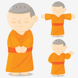 Monk cartoon Stock Images