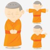 Monk cartoon Stock Images
