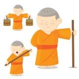 Monk cartoon Royalty Free Stock Photography