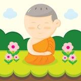 Monk cartoon Stock Image