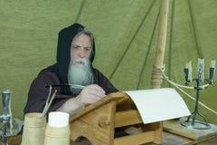 Monk chronicler Royalty Free Stock Image