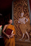 Monk on church . Royalty Free Stock Photos