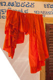 Monk clothes in pagoda Stock Photography