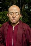 Monk at Do Drul Chorten Stupa Royalty Free Stock Photos