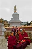 Monk at Do Drul Chorten Stupa Stock Photos