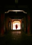 Monk at the door Royalty Free Stock Images