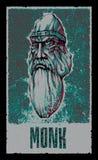 Monk. Fantasy Hero. Vector illustration Stock Image
