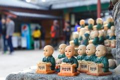 Monk figurines at Yonggungsa temple, Busan Stock Image