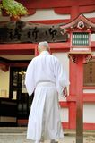 Monk at Fushimi Inari Taisha Shrine Stock Images