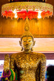 Monk golden image of Buddha Royalty Free Stock Photos