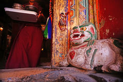 Monk in Hemis Monastery in Ladakh, India Royalty Free Stock Photos