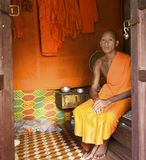Monk at home in Cambodia Stock Photos