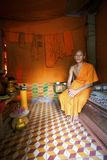 Monk at home in Cambodia Stock Photo