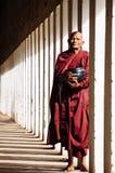 Monk i Bagan Fotografering för Bildbyråer