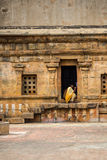 Monk in Indian temple Stock Photography