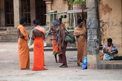 Monk in Indian temple Royalty Free Stock Photo