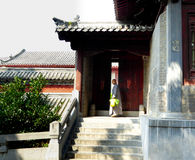 A monk inside Shaolin Temple Royalty Free Stock Photo