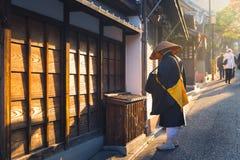 Monk in Japan Royalty Free Stock Image