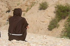 Monk, Judea Desert Stock Photography