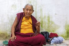 Monk in Kathmandu Royalty Free Stock Photography