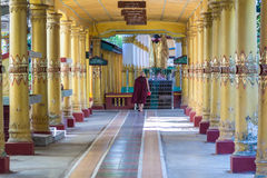 Monk at Kyaly Khat Wai Monastery  ,  Bago in Myanmar (Burmar) Royalty Free Stock Photos