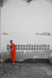 Monk. Lao monks alm Southeast AsiaTourism Royalty Free Stock Images
