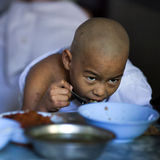 Monk in the Mahagandayon Monastery, Myanmar Royalty Free Stock Photos