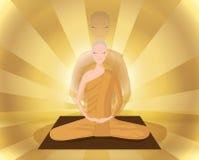 Monk meditation Stock Photos
