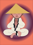 monk medytacji Fotografia Stock
