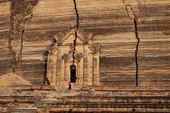 A monk at Mingun Pahtodawgyi in Mandalay, Myanmar.  Royalty Free Stock Photo
