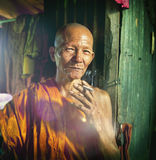 Monk Monastery Portrait Traditional Culture Characters Concept Stock Photo