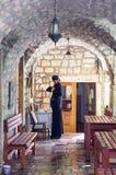 Monk in Monastery Rezevici in Montenegro royalty free stock photo