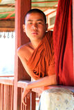 Monk at the monastery of the village of Joate Stock Photography