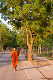 Monk in the morning Stock Photos