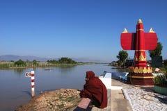 Monk in Myanmar Royalty Free Stock Photo