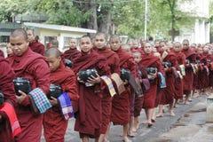 monk myanmar Royaltyfria Foton