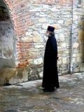 Monk in Neamt Monastery, Moldavia Royalty Free Stock Photography