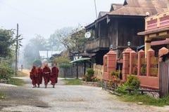 Monk at Nyaung Shwe   in Myanmar (Burmar) Stock Image