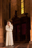 Monk in old church Royalty Free Stock Photography