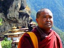Free Monk On The Way To Paro Taktsang Of Bhutan Stock Photos - 112909533