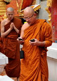 Chiang Mai, TH: Monks at Wat Doi Suthep Royalty Free Stock Images