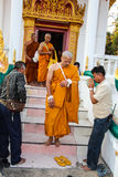 Monk ordained in Thai temple Royalty Free Stock Photography