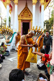 Monk ordained in Thai temple Stock Photography