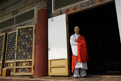 Monk of Pohyonsa Temple, DPRK (North Korea) Stock Images