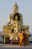 Monk praying Royalty Free Stock Photo
