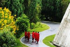 Monk at Punakha Dzong, Punakha Bhutan Royalty Free Stock Photography